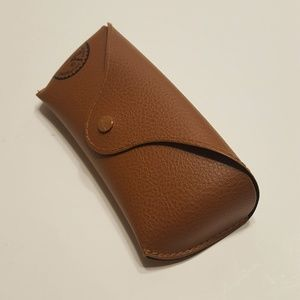 Ray ban leather brown eyeglasses sunglasses case